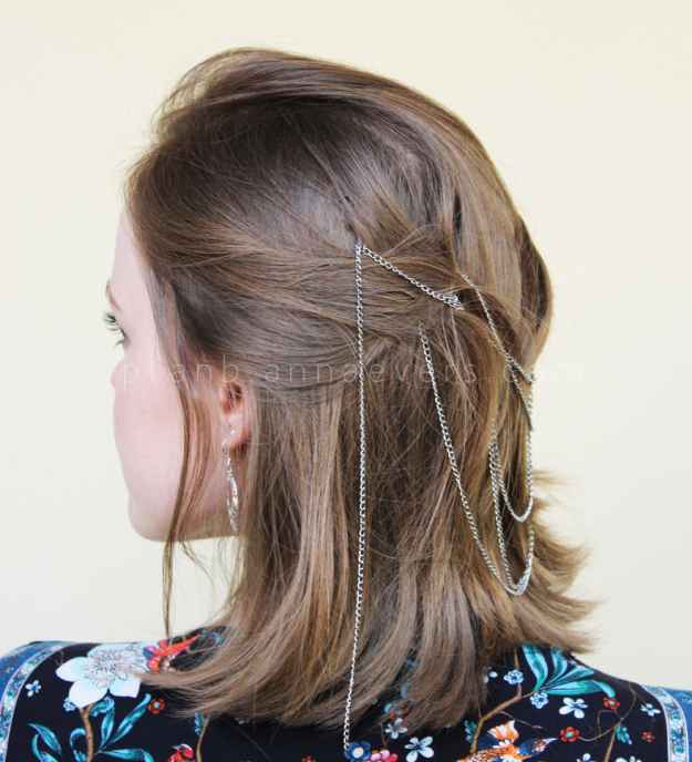 Plan B anna evers DIY Chain Hair pin