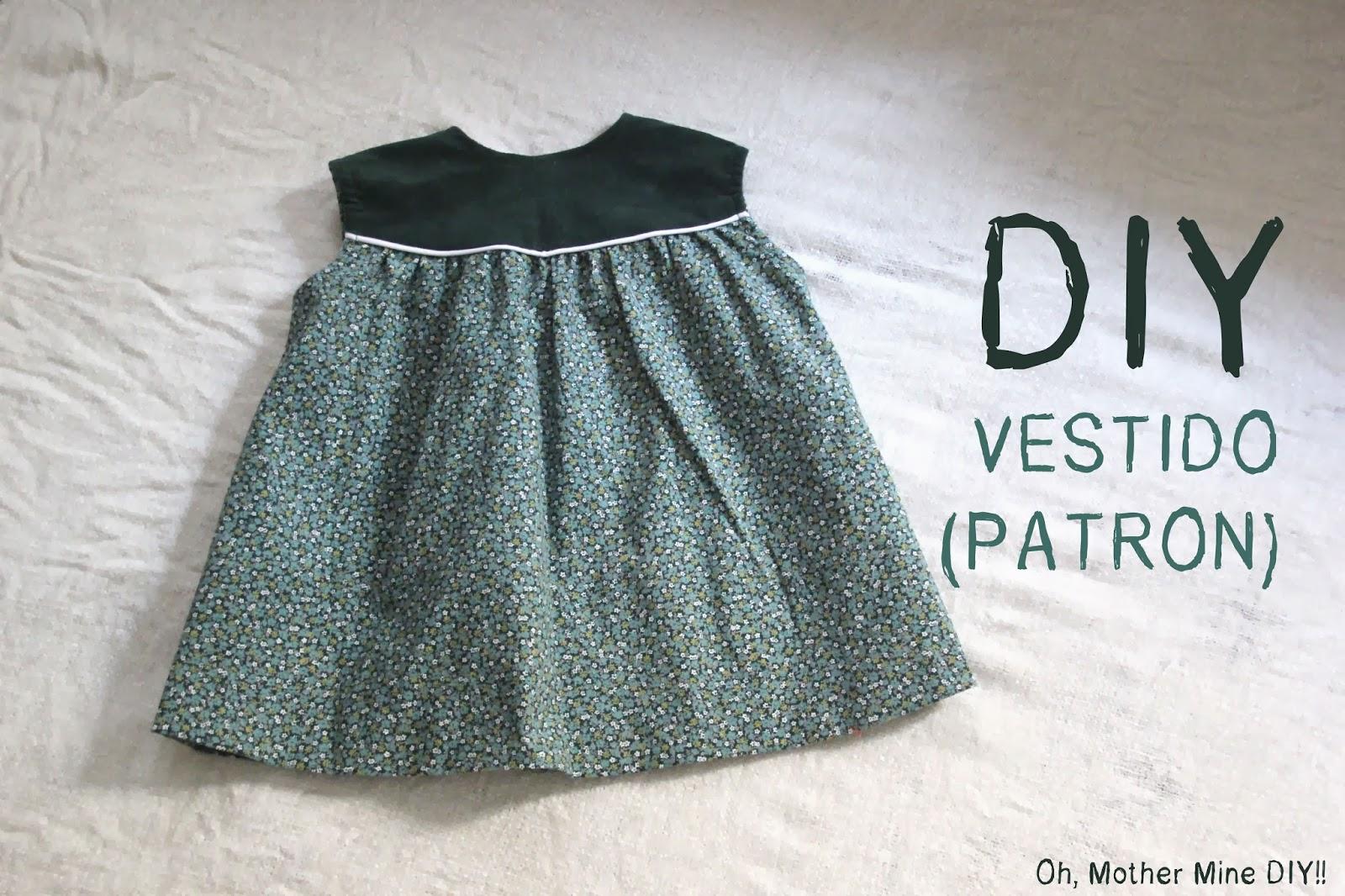 DIY Costura: Vestido de niña y capota con patrones incluidos (talla 6 meses - 6 años)
