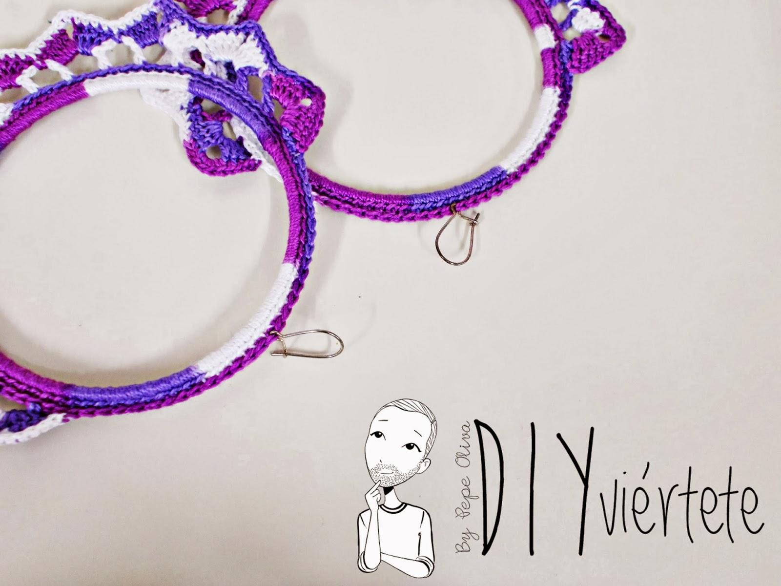 DIY-zarcillo-pendiente-bisutería-ganchillo-crochet-flamenca-Diyviértete6