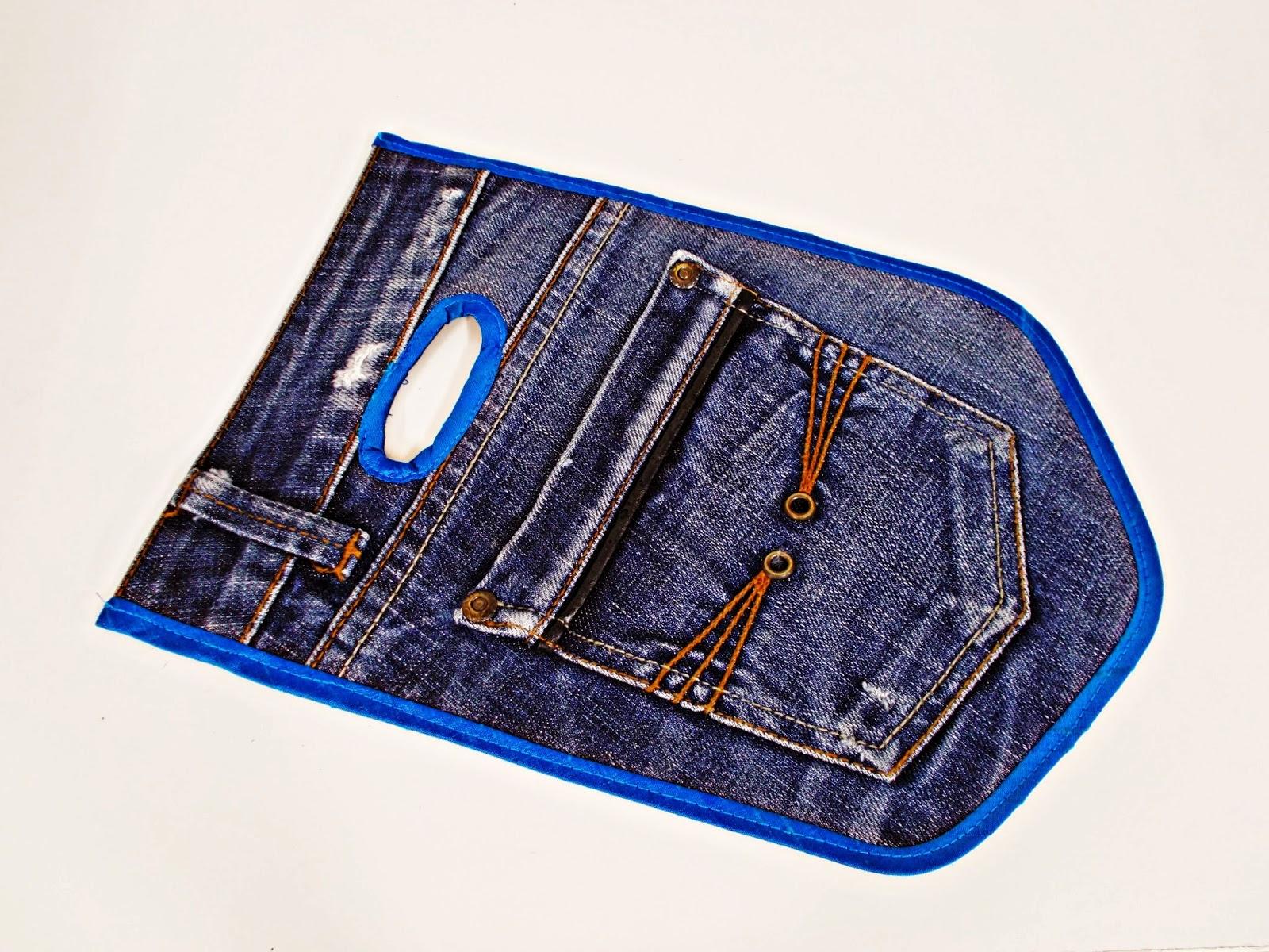 DIY-costura-reciclar-costumizar-vaquero-cargador-móvil-4