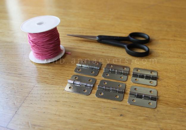 Plan B anna evers DIY Hinge bracelet materials