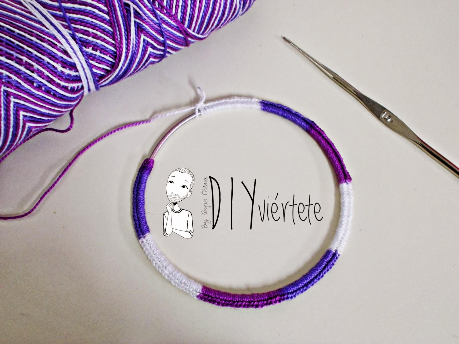 DIY-zarcillo-pendiente-bisutería-ganchillo-crochet-flamenca-Diyviértete1
