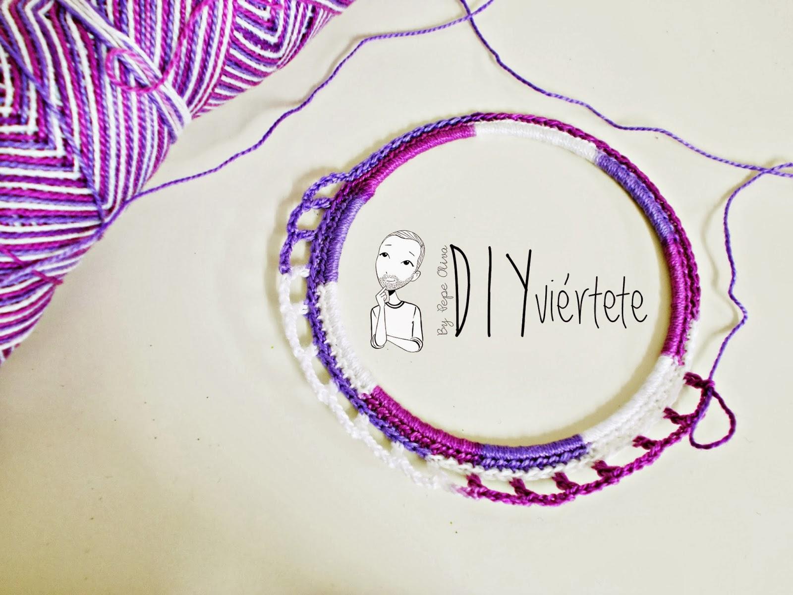 DIY-zarcillo-pendiente-bisutería-ganchillo-crochet-flamenca-Diyviértete3
