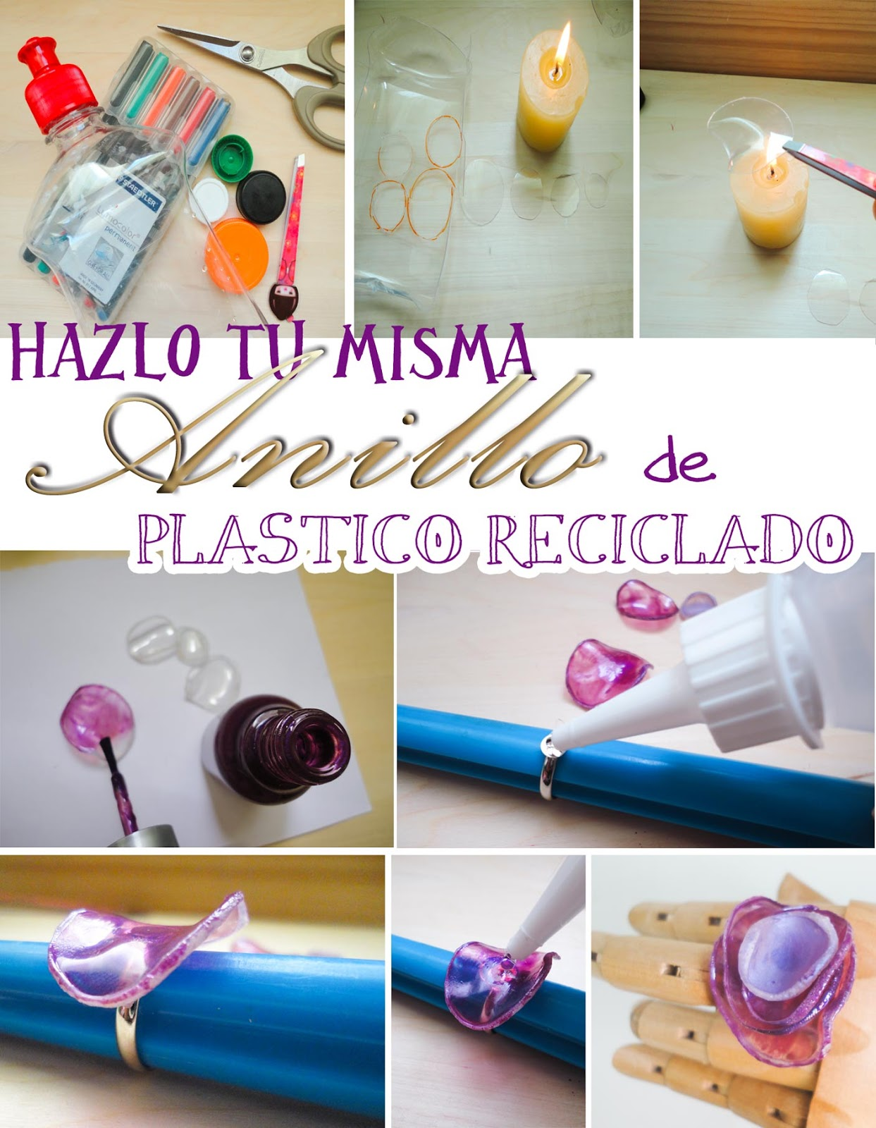 diy-anillo-plastico-reciclado-finger-ring-pet- el tocador de Cenicienta blog