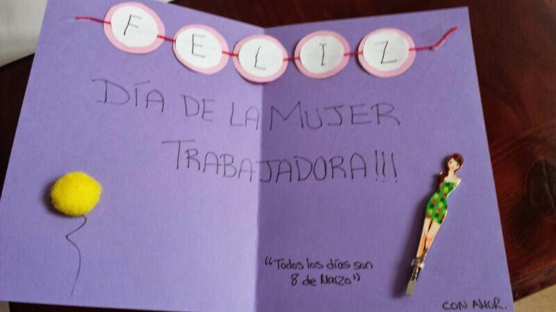 Diy Tarjeta Especial Dia De La Mujer Trabajadora Handbox