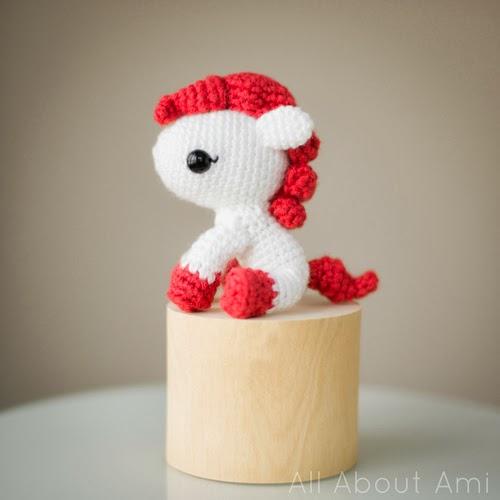Patrón amigurimi pony