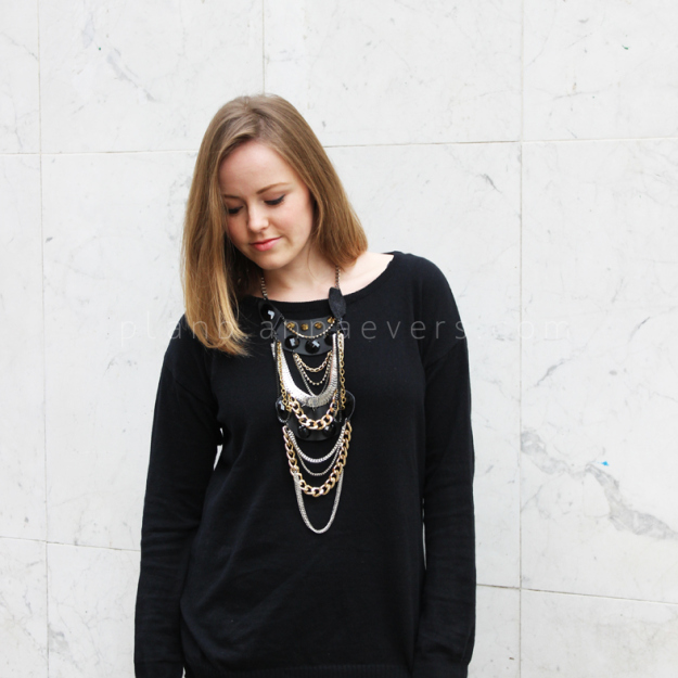 Plan B anna evers DIY Multi chain necklace DIY