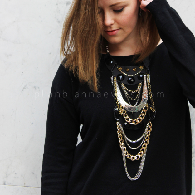 Plan B anna evers DIY Multi chain necklace