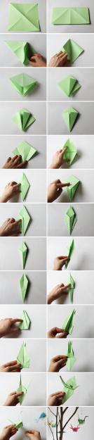 Plan B anna evers DIY Origami bird