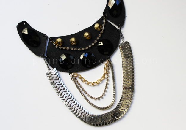 Plan B anna evers DIY Multi chain necklace step 7