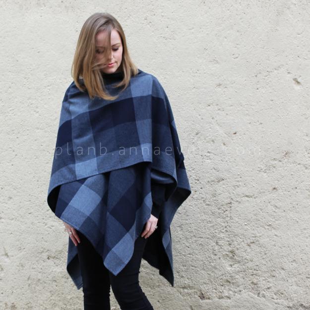 Plan B anna evers DIY Ruana wool