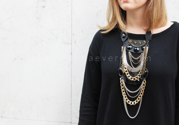 Plan B anna evers DIY Multi chain necklace zoom