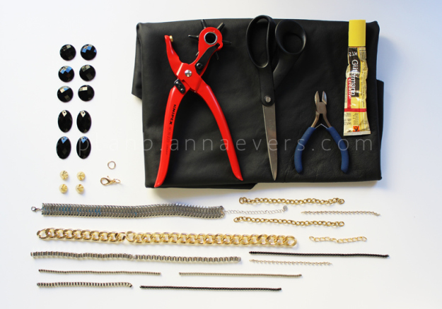 Plan B anna evers DIY Multi chain necklace materials