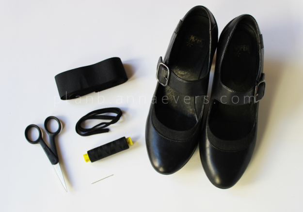 Plan B anna evers DIY Bow shoes materials