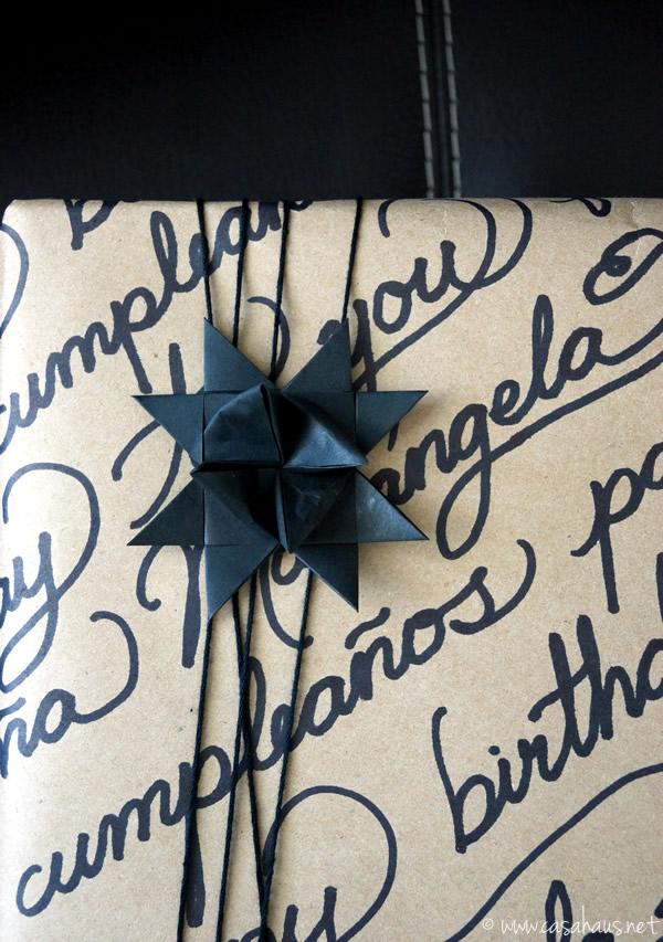 Casa Haus: Envoltura de regalo DIY gift wrap