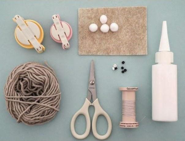 Materiales para hacer un conejito de pascua
