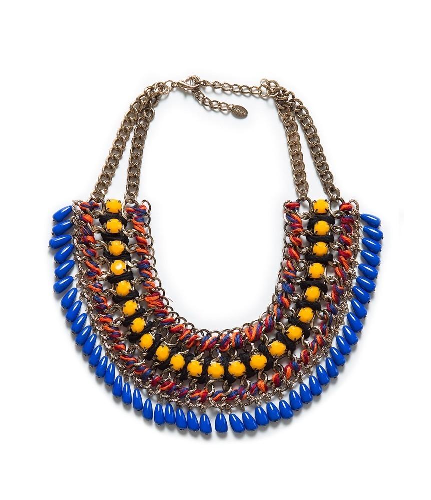 diy: collar babero étnico / azteca con cierre de nudos correrizos ...