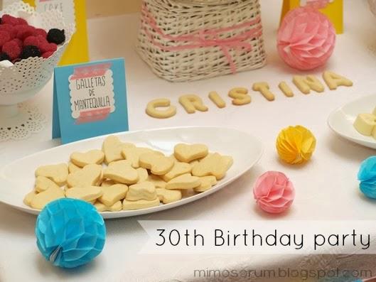 Fiesta 30 cumpleaños.