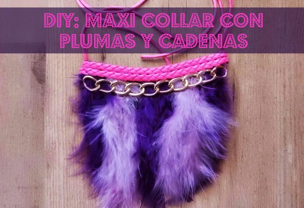 e0b0e14d7934 DIY   Como hacer un maxi collar con plumas y cadena (Patrón gratis) ...