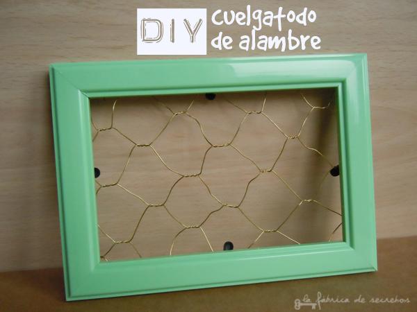 DIY Cuelgatodo de alambre