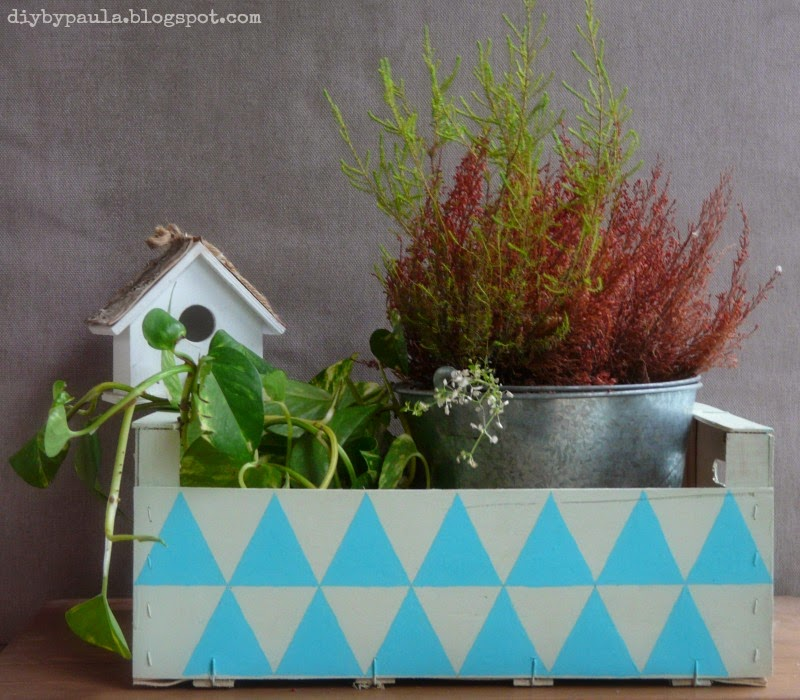 Caja decorada con Chalk Paint