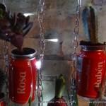 Ruben y Rosa Jardín Vertical Cocacola  #compartecocacolacon  reciclado creativo rosa montesa