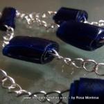 Bisutería realizada con botellas de plástico recicladas. Collares, pendientes, colgantes. Jewelry made out of recycled plastic bottles Reciclado Creativo by Rosa Montesa