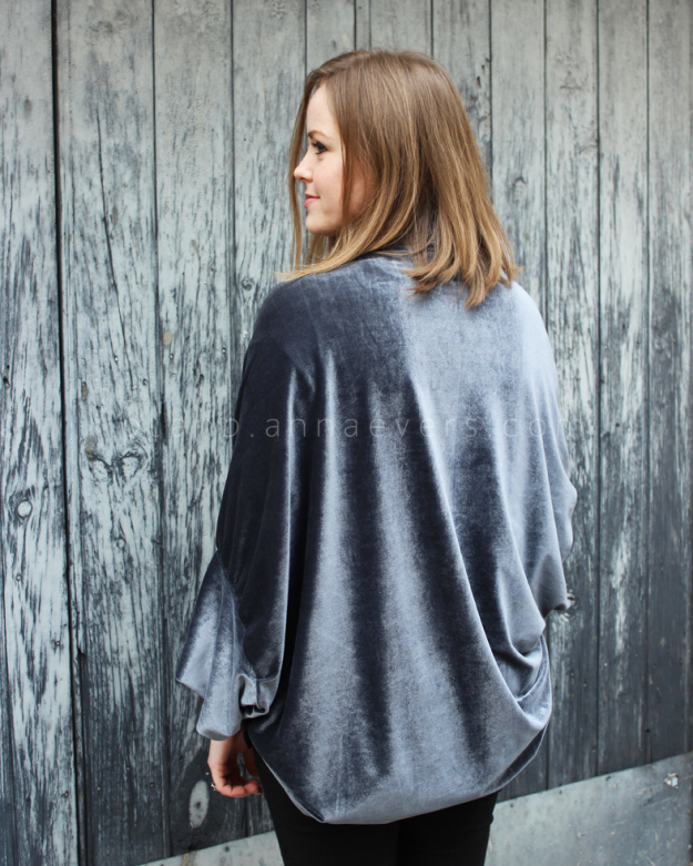 Plan B anna evers DIY Velvet shrug