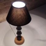 Lamparita de mesa realizada con cápsulas de café Dolce Gusto - Lamp made whith coffee capsules