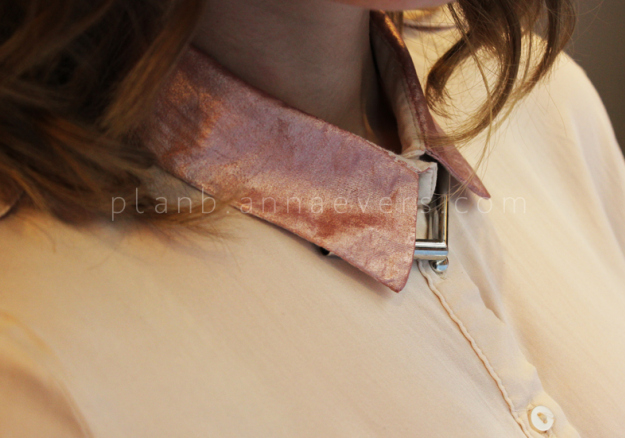 Plan B anna evers DIY Rose gold collar