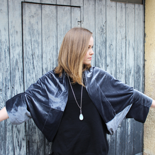 Plan B anna evers DIY Velvet shrug front