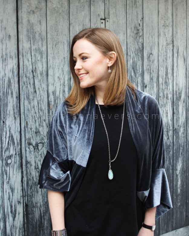 Plan B anna evers DIY Velvet shrug DIY