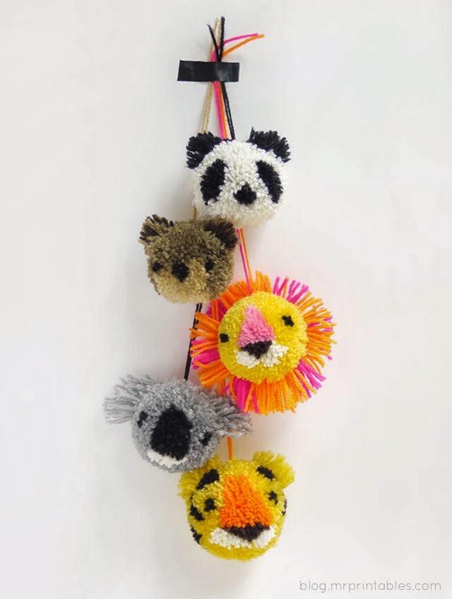 Animales de pompon