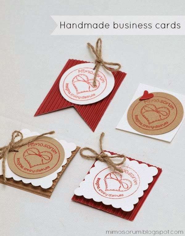 Handmade business cards. Mimosorum Blog.