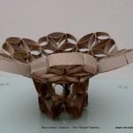 Florero Frutero flor de la vida Rollos de papel higiénico - Vase made from toilet paper rolls