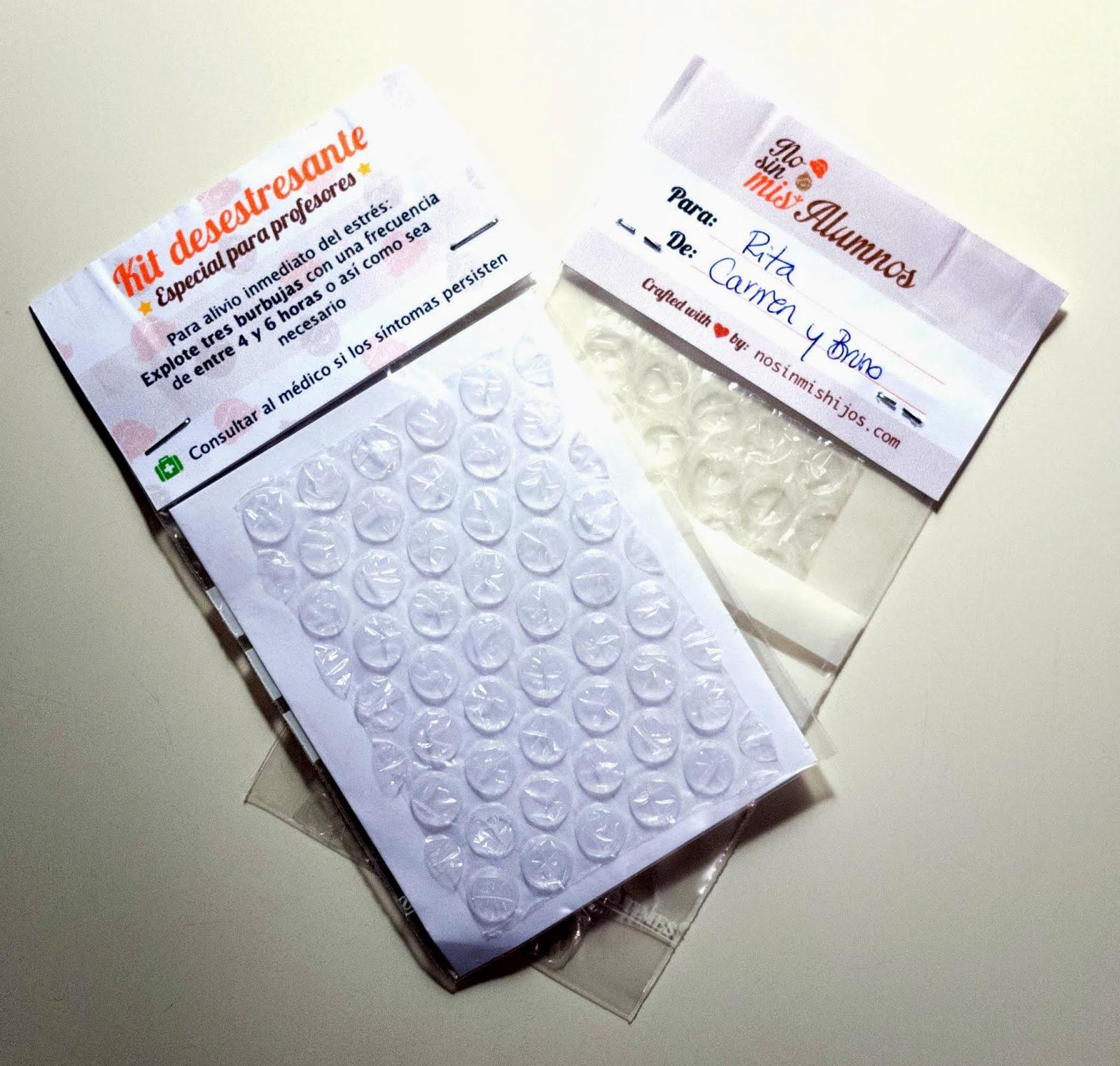 plástico de burbujas empaquetado