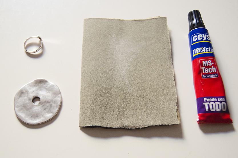 materiales diy anillo moneda