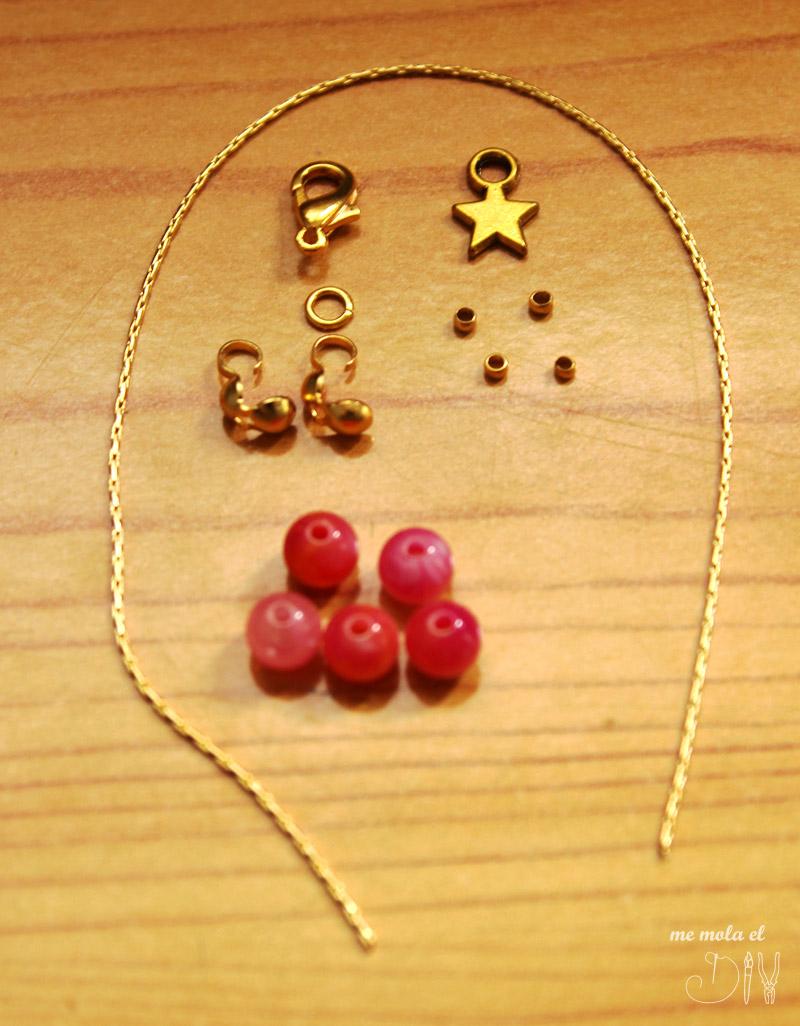 materiales para hacer pulsera estrella