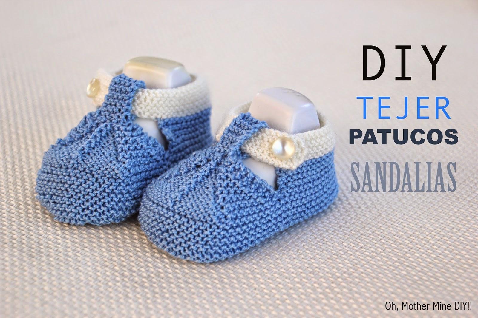 Condimento Activamente asignar  DIY Cómo tejer patucos sandalias bebe con dos agujas - HANDBOX
