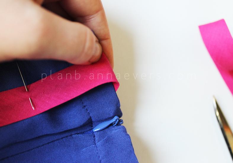 Plan B anna evers DIY side stripe pants 2.0 step 4