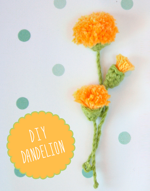 DIY dandelion by I am a Mess