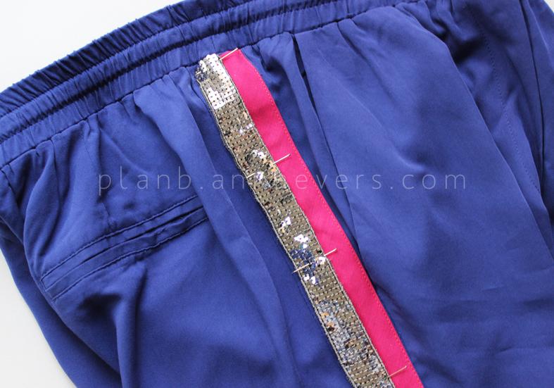 Plan B anna evers DIY side stripe pants 2.0 step 5