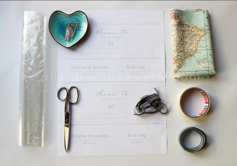 Plan B anna evers DIY Brush bag materials