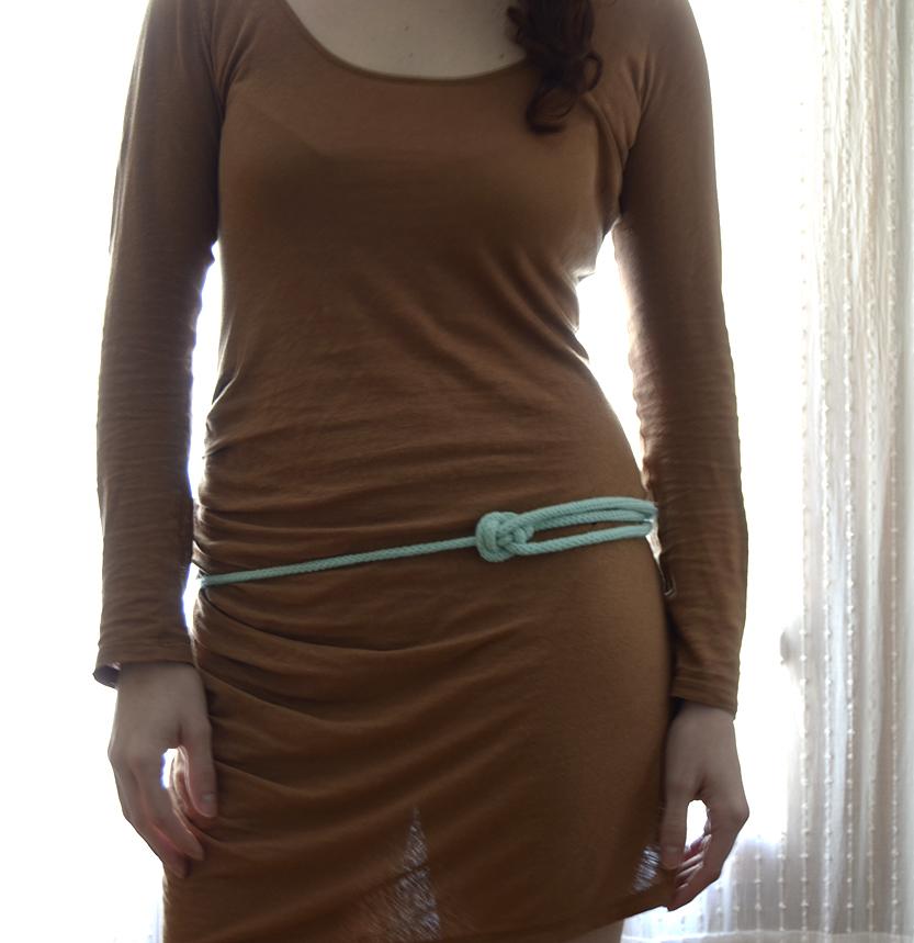 cinturon nudo arco azul