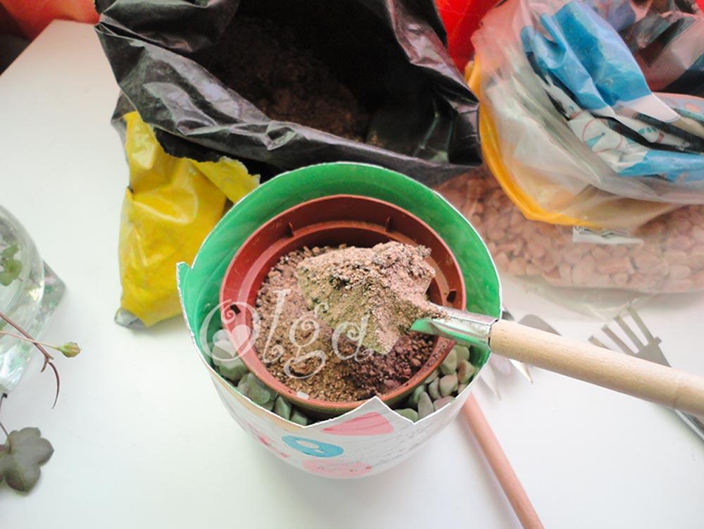 maceta gato - flower cat - pintura pizarra chalk paint