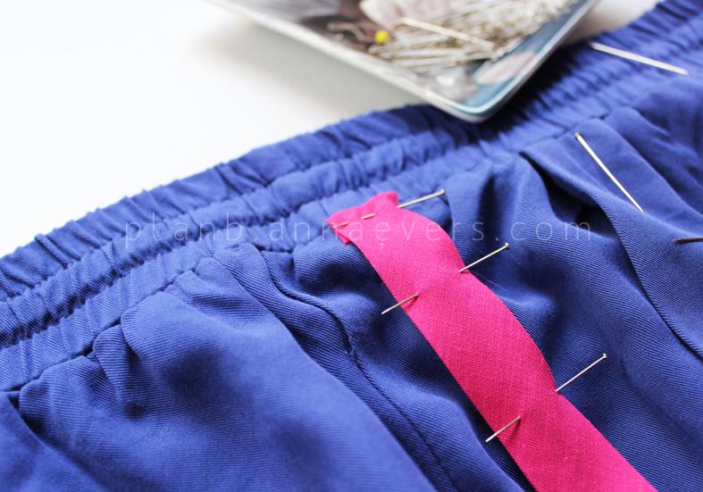 Plan B anna evers DIY side stripe pants 2.0 step 2