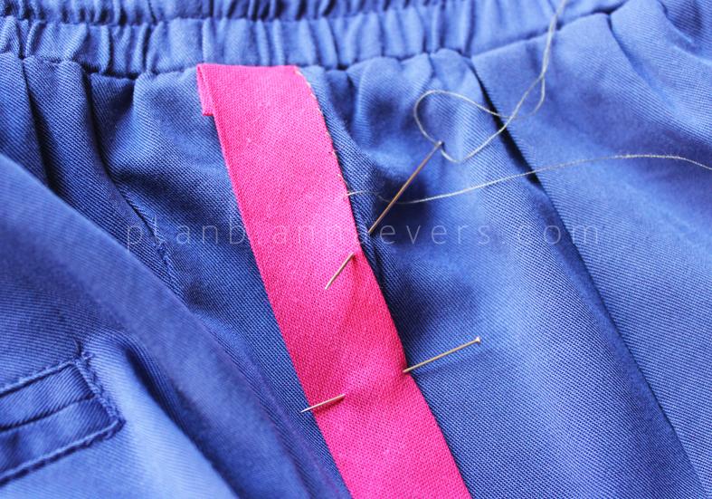 Plan B anna evers DIY side stripe pants 2.0 step 3
