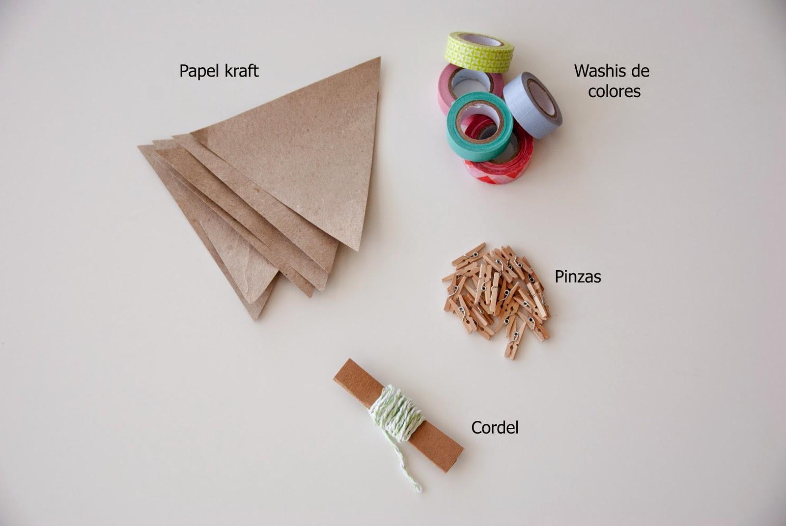imagen materiales banderines washi tape