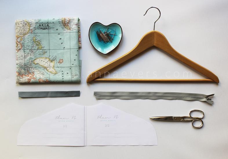 Plan B anna evers DIY Secret hanger (free pattern) materials