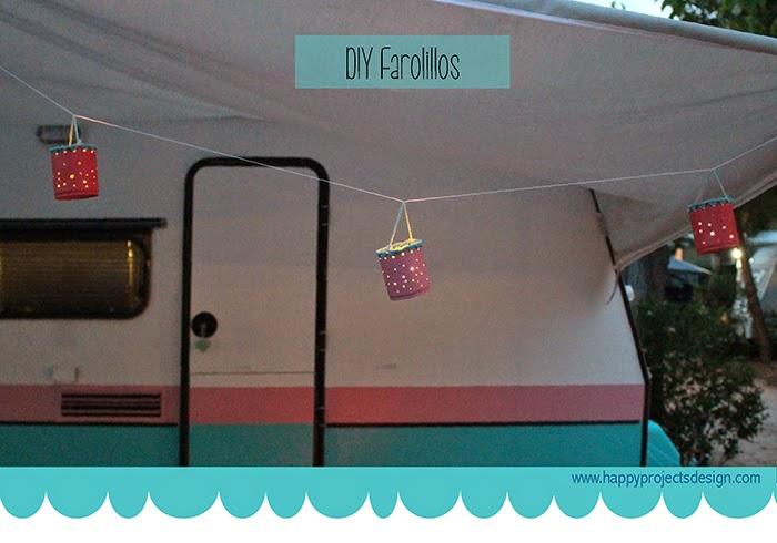 Complementos de camping DIY: farolillos con latas